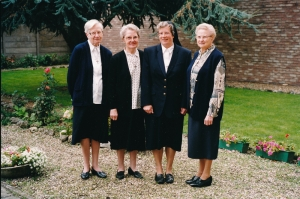 Bij gelegenheid van 25-jarige professie van zuster Johanna in 1996